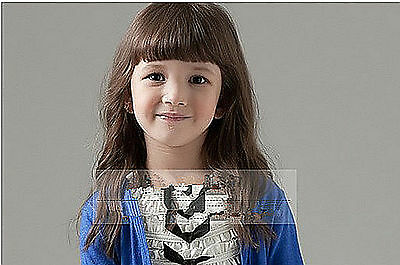 Girls Kids Children Costume Party Fringe Long Curly curl Full Hair Wigs PROP