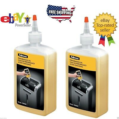 2 pk Fellowes Shredder Oil, 12 oz. Bottle with Extension Nozzle