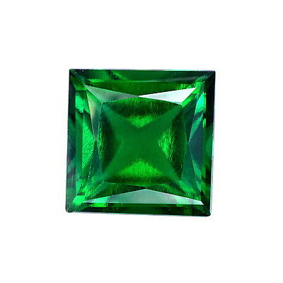 Lab Created Hydrothermal Emerald Green Square Princess Loose Stone (2x2-12x12mm)