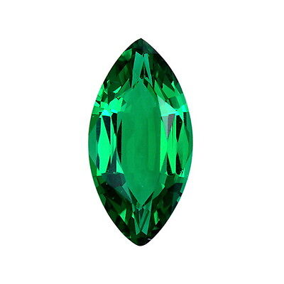 Lab Created Hydrothermal Emerald Green Marquise Loose stone AAA (4x2mm-18x9mm)