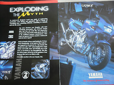 YAMAHA TRX 850 - 2 page COLOUR MOTORCYCLE ADVERT