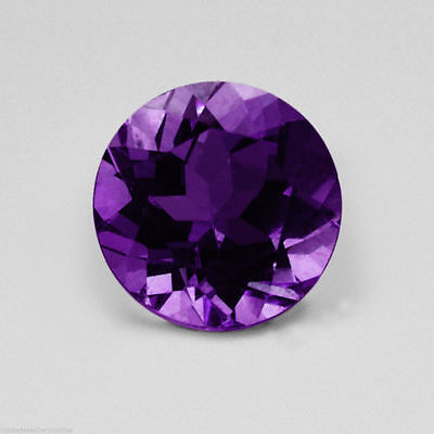 Deep Purple Round Faceted AAA Natural African Amethyst (1.5mm-9mm) Loose Stones