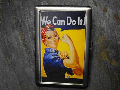 Rosie the Riveter Decorated ID Cigarette Case Wallet - We Can Do It - CF114