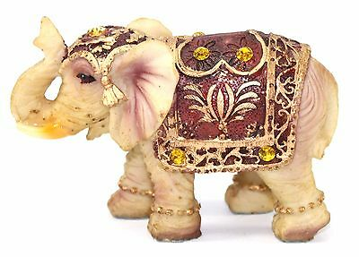 "Feng Shui 3""(H) Vintage Elephant Trunk Statue Lucky Figurine Gift & Home Decor"
