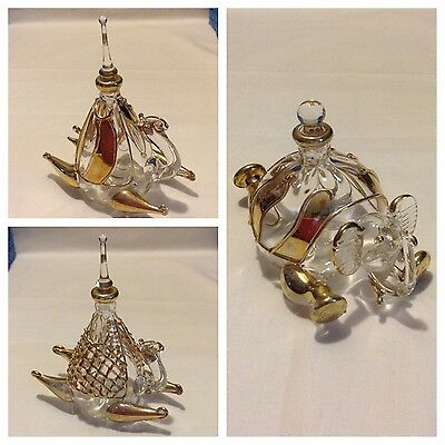 New Perfume Bottle, Egyptian Handmade, Blown Glass .