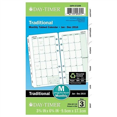 Dated Two Page-per-Month Organizer Refill, January-December, 3-3/4 x 6-3/4, 2015