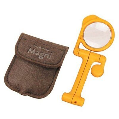pocket magnifier reading foldable self standing magnifying glass magnetic 40mm