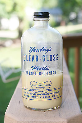 VINTAGE YARDLEY'S CLEAR-GLOSS PLASTIC FURNITURE FINISH