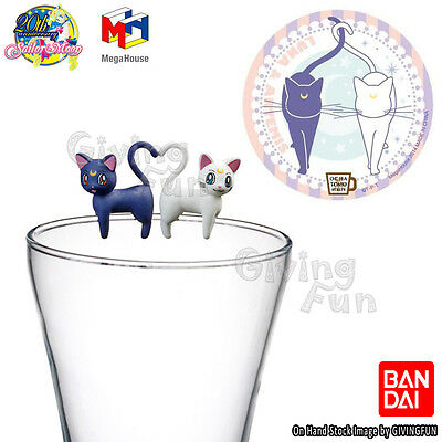 MegaHouse Sailor Moon OCHATOMO Series Tea Friend Figure Cup Coaster LUNA ARTEMIS