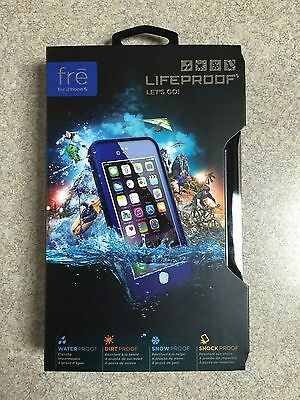 "100% Authentic Lifeproof Fre Waterproof Case For Apple iPhone 6 4.7"" BLUE COLOR"