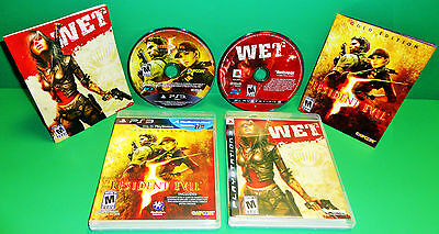 Resident Evil 5: Gold Edition & WET (PS3) COMPLETE DISC, MANUAL, CASE (MINT)