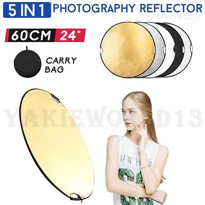 """110CM 43"""" Photography 5in1 Photo Light Collapsible Portable Reflector w/ Handle"""