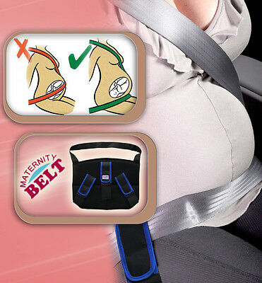 Blue TRIPLE SUPPORT ADVANCED MATERNITY PREGNANCY SEAT BELT BAND CAR BABY SAFETY