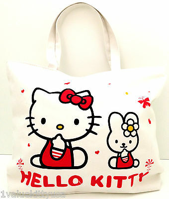 Hello Kitty Tote Shoulder Shopping Bag (Melody design2)-Great Gift **US Seller**