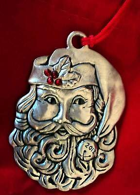 Avon  2012 Pewter Santa Ornament Collectible Nib