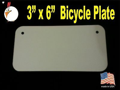 "UV-PRO! High Gloss Aluminum 3"" x 6"" Bicycle plates -Dye Sublimation Blanks 30 pc"