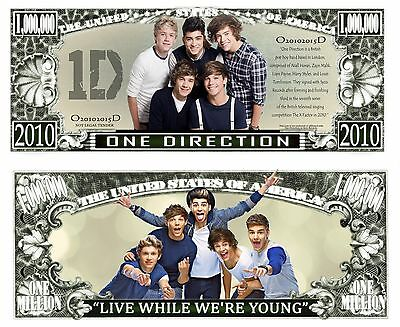 ONE DIRECTION - BILLET MILLION DOLLAR US ! Collection 1D Liam Payne Harry Styles