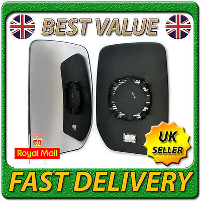 Left Passenger Side Heated Wing Door Mirror Glass for FORD TRANSIT 2000-2012
