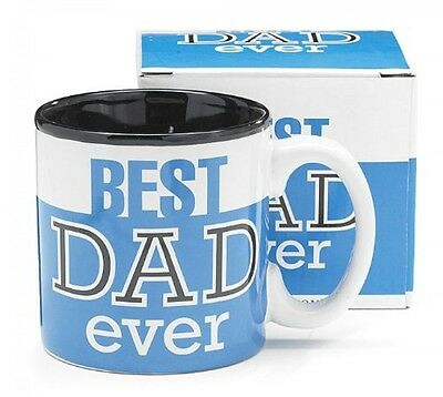 Best Dad Ever 13Oz Coffee Mug Great for Father's Day or Birthday - Blue, New