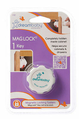 DreamBaby Mag Lock Key - Child Proof Safety Magnetic Cabinet Door Locks L152