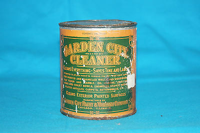 VINTAGE GARDEN CITY CLEANER TIN CAN - ONE QUART