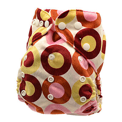 Modern Cloth Nappy Diapers Washable Reusable One Size Adjustable+one insert (M60