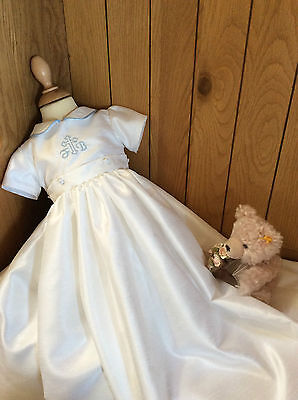 Personalised Christening Baptism gown outfit suit with  DETACHABLE SKIRT