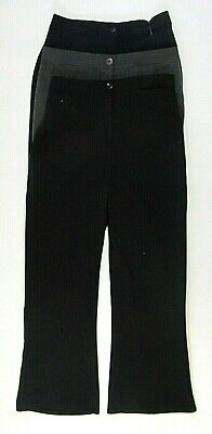Girls Womens School Uniform Sturdy Bigger Fit Trousers Bottoms Black Grey Navy