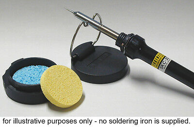 soldering iron TIP CLEANER & STAND water / air tight sealed case with 2 sponges