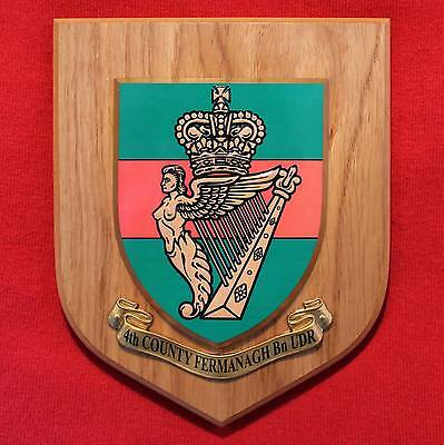 4th Fermanagh Ulster Defence Regiment - British Army Plaque Shield- Ireland UDR