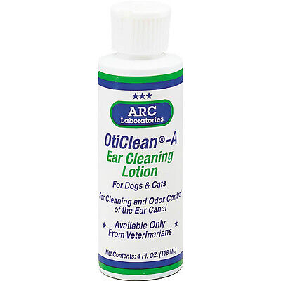 PROFESSIONAL CLEANER for DOGS & CATS EARS - 4 Ounce Oticlean Ear Cleaning Lotion