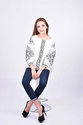 Ukrainian embroidery Lady women SHIRT machine embroidered  NEW