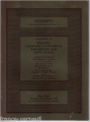 Catalogue Sotheby's Horlogerie Scientific instrument scientifique clocks watches