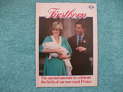 Firstborn Magazine 1982 -Special UK Souvenir - Princess Diana & Prince William.