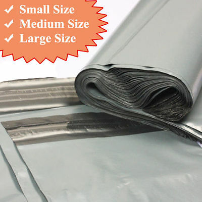 20-Strong Grey Plastic Mailing Post Poly Postage Bags with Self Seal ALL SIZES