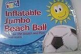 Inflatable JUMBO BEACH BALL great for Beach, Pool, take on Holiday - Black/White