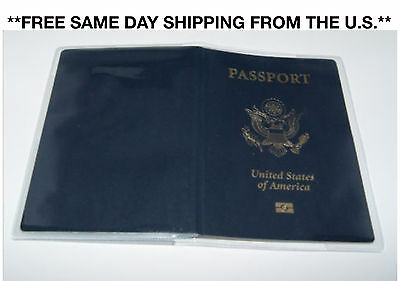 Clear Thick Plastic Vinyl Passport Cover New Great Quality