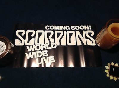scorpions world wide live poster