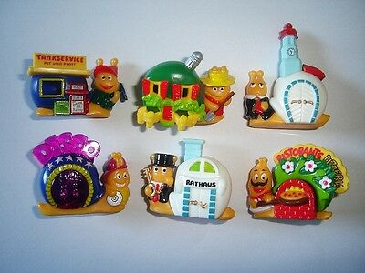 Kinder Surprise Set - Snails With Houses Schneckendorf 1997 Figures Collectibles
