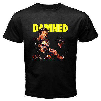 New THE DAMNED Gothic Punk Rock Band Men's Black T-Shirt Size S M L XL 2XL 3XL