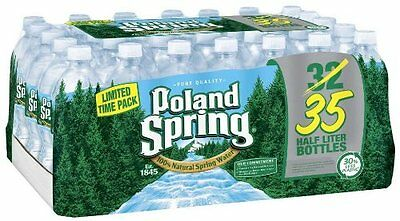 35 Count Poland Spring Bottled Water, 16.9 oz, 35 ct Free Shipping New