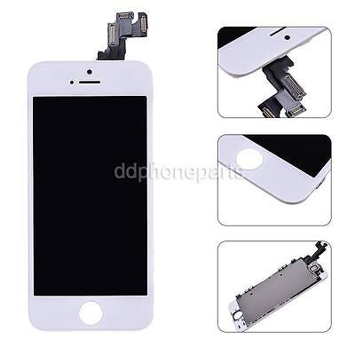 White LCD Display + Touch Screen Digitizer + Front Camera Assembly For iPhone 5S