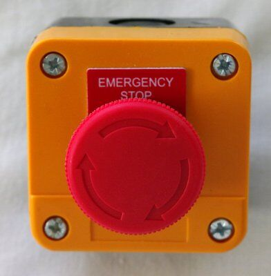 Emergency Stop button / switch - Twist to release New Aust. Stock.