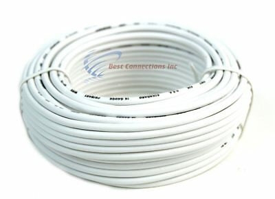 Audiopipe 50 Feet 14 Gauge White Primary Remote Wire Car Auto Power Cable