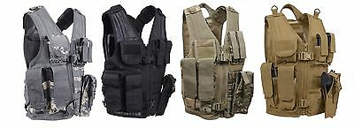 Rothco KIDS Cross Draw Military Tactical Camo Vest