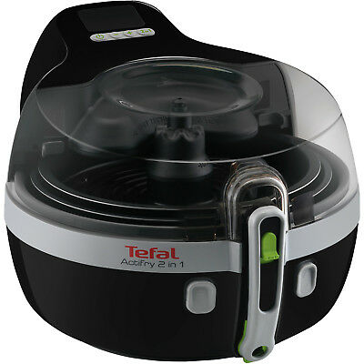 TEFAL YV 9601 ActiFry 2in1 Fritteuse, Schwarz/Silber,