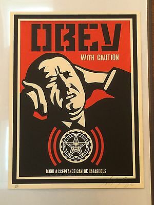 Shepard Fairey - Obey with Caution - Limited to 300 - signed & numbered - Obey