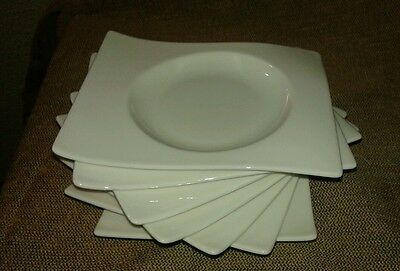 """Villeroy and Boch Fine China New Wave Saucer 7x6"""" Set of seven Made in Germany"""