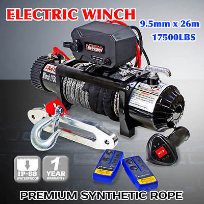 Outranger 17500LBS Wireless Synthetic Rope Winch IP68 Waterproof 12V Remote 4X4