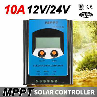 12V 24V Solar Panel Battery Regulator Charge Controller 20A PWM LCD Display